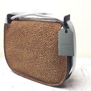 All Saints Bags - ALL SAINTS mini echo hobo suede leather purse NWT